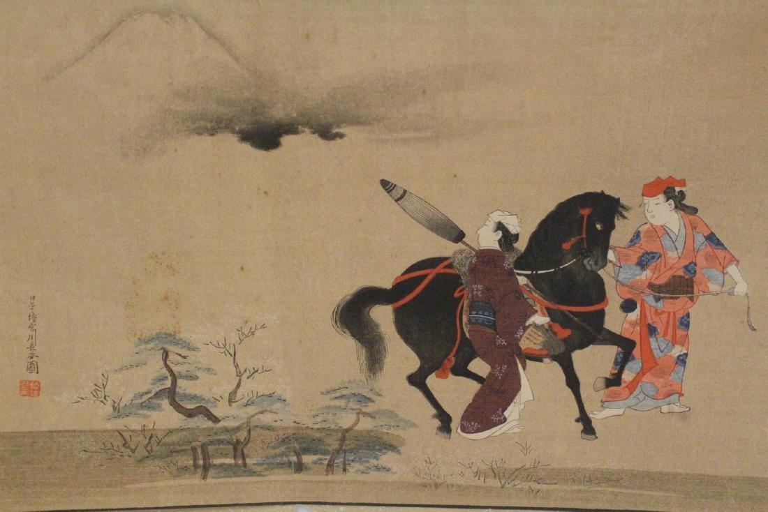 2 antique Japanese antique woodblock prints - 4