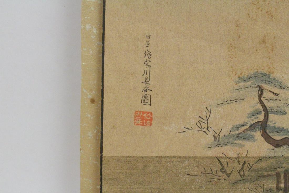 2 antique Japanese antique woodblock prints - 5