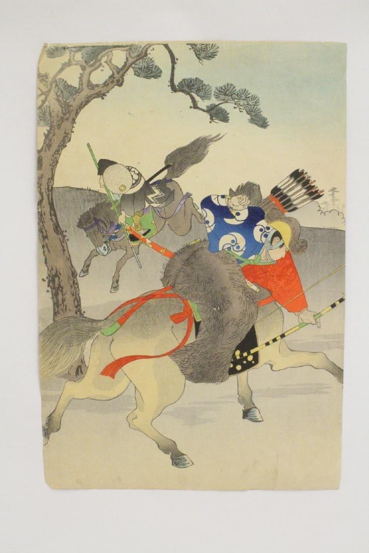2 antique Japanese antique woodblock prints - 6