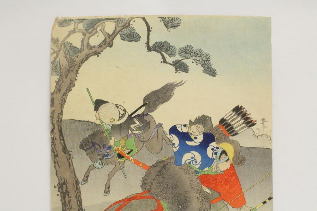 2 antique Japanese antique woodblock prints - 7