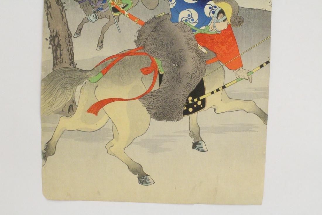 2 antique Japanese antique woodblock prints - 8