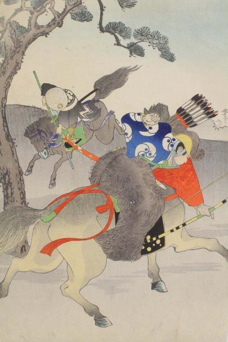 2 antique Japanese antique woodblock prints - 9
