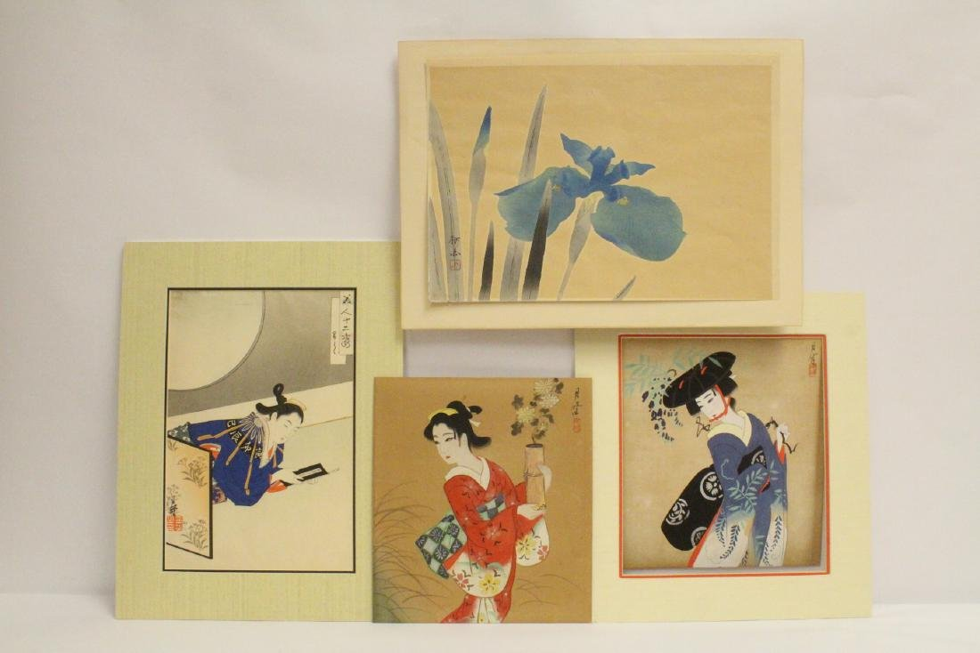 4 Japanese woodblock prints