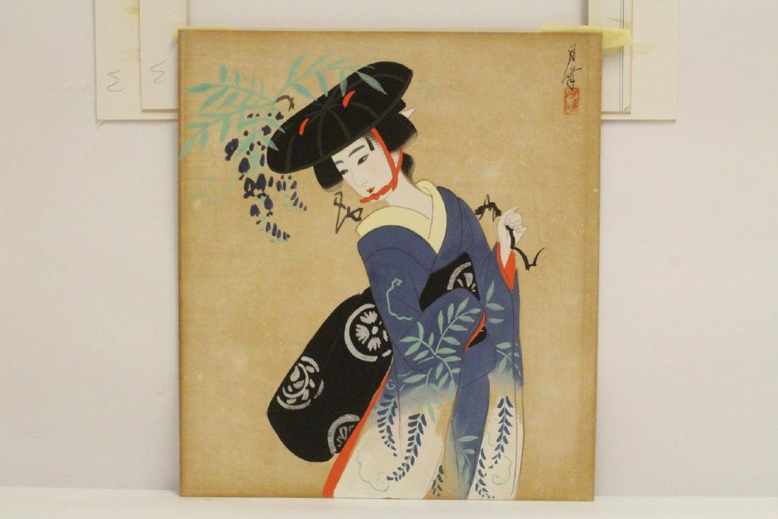 4 Japanese woodblock prints - 4
