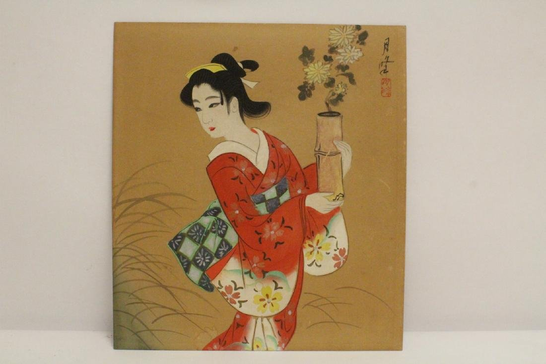 4 Japanese woodblock prints - 6