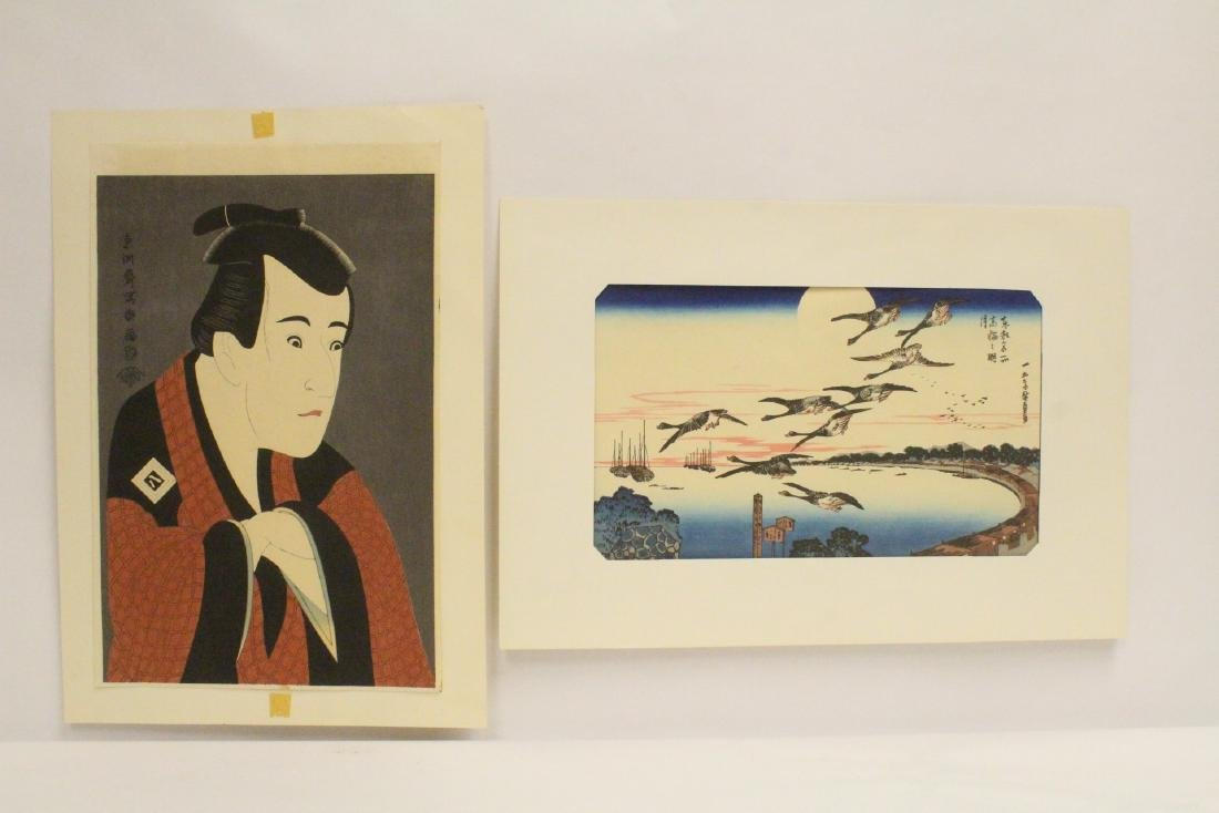2 vintage Japanese woodblock prints