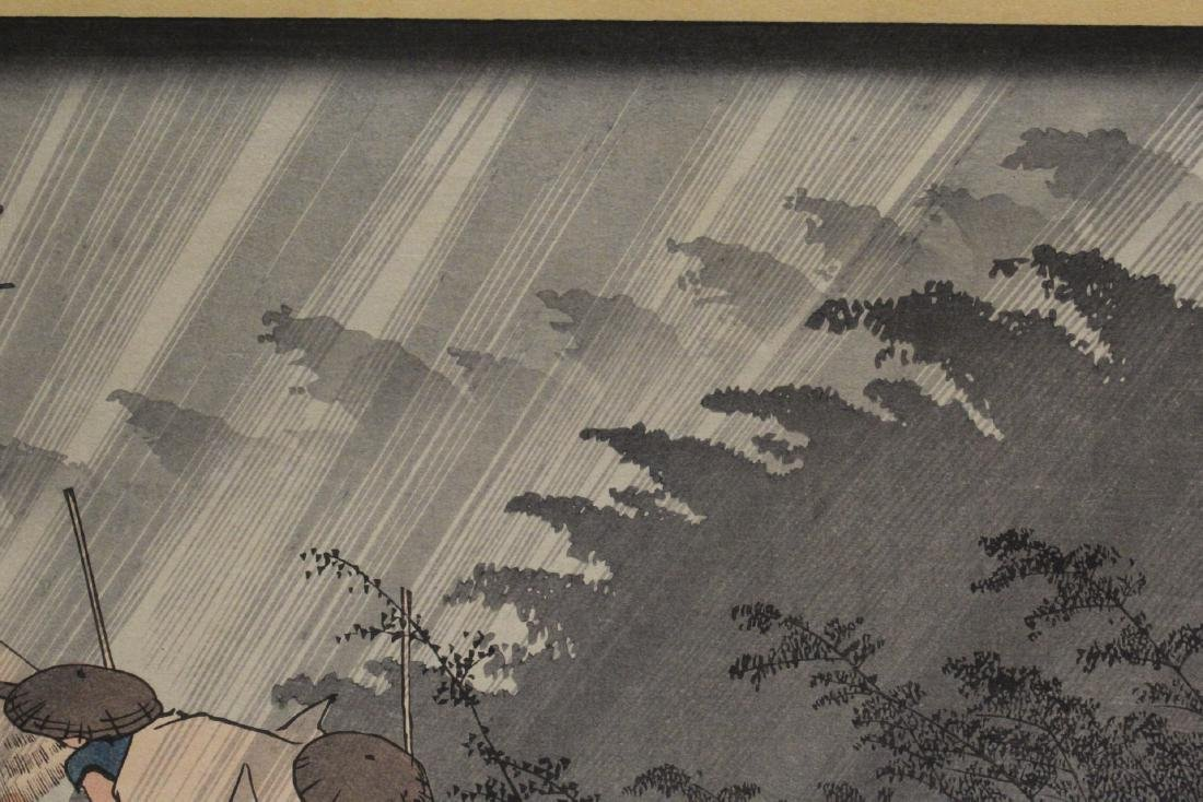 Antique Japanese woodblock print by Hiroshige - 3