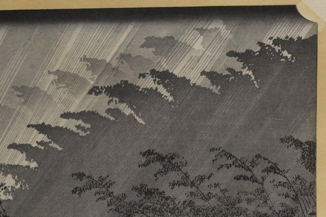 Antique Japanese woodblock print by Hiroshige - 4