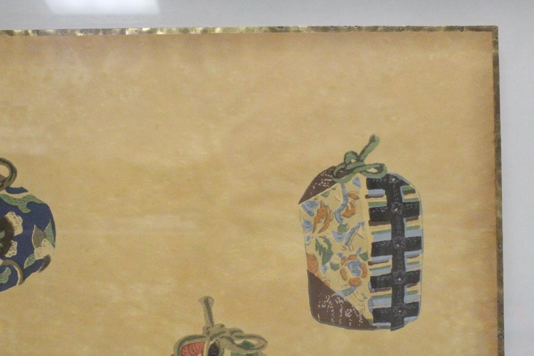 2 framed Japanese contemporary woodblock prints - 4