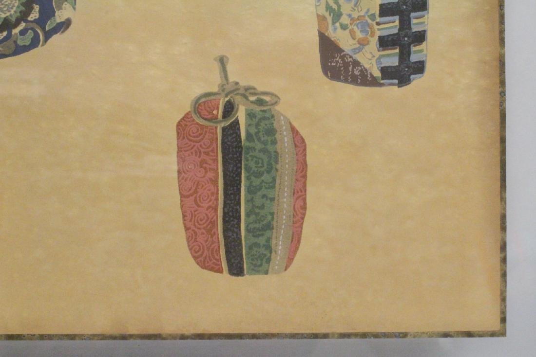 2 framed Japanese contemporary woodblock prints - 5