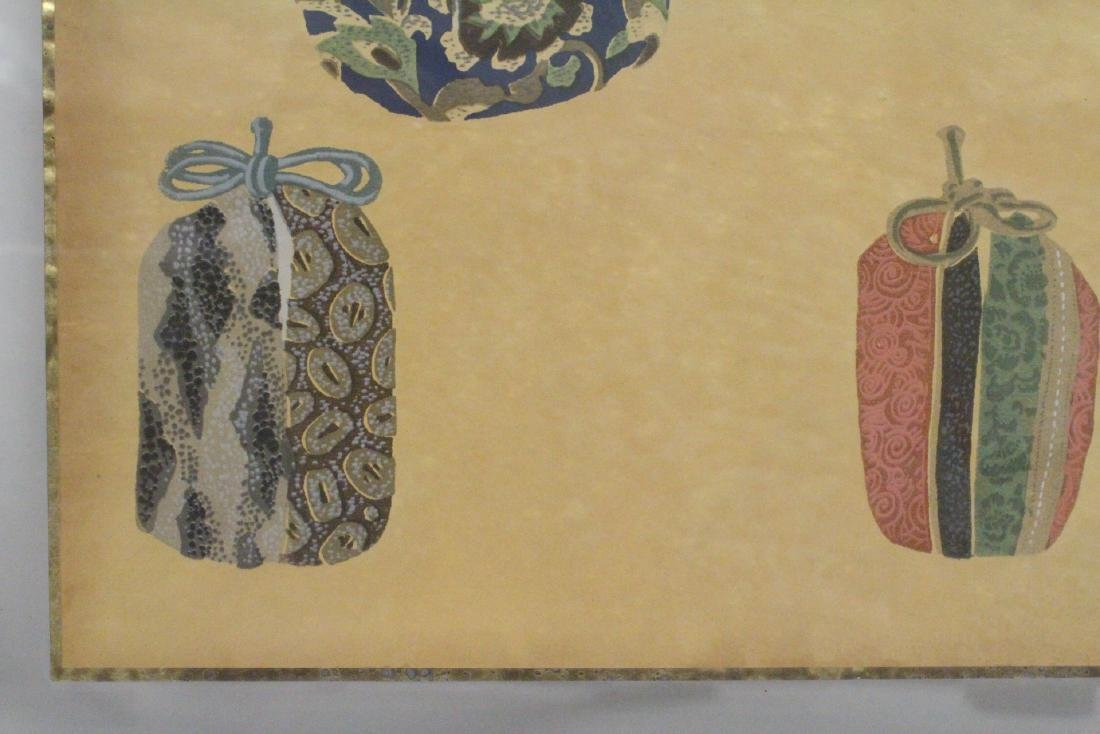 2 framed Japanese contemporary woodblock prints - 6