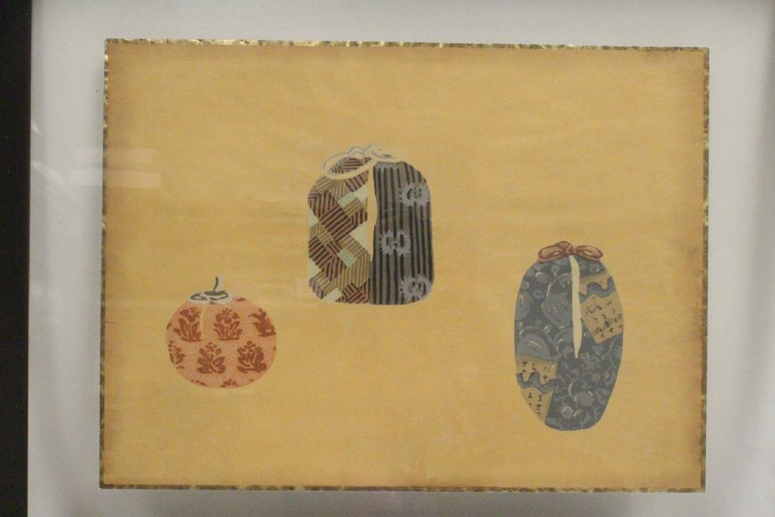2 framed Japanese contemporary woodblock prints - 7