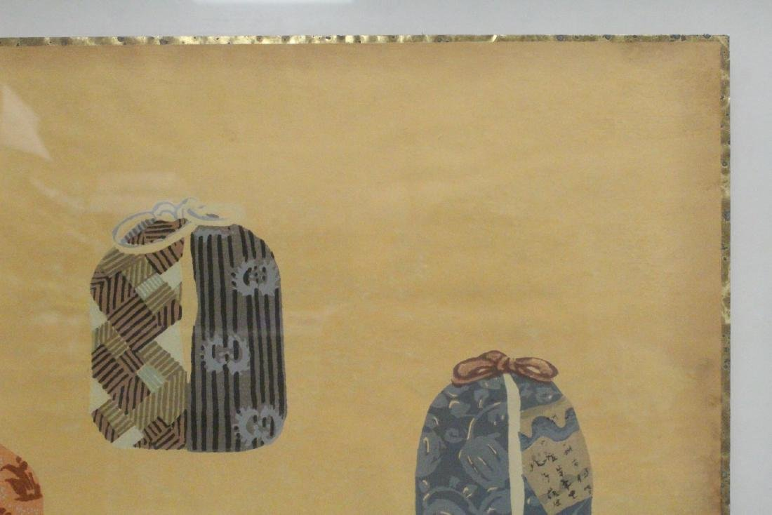 2 framed Japanese contemporary woodblock prints - 9