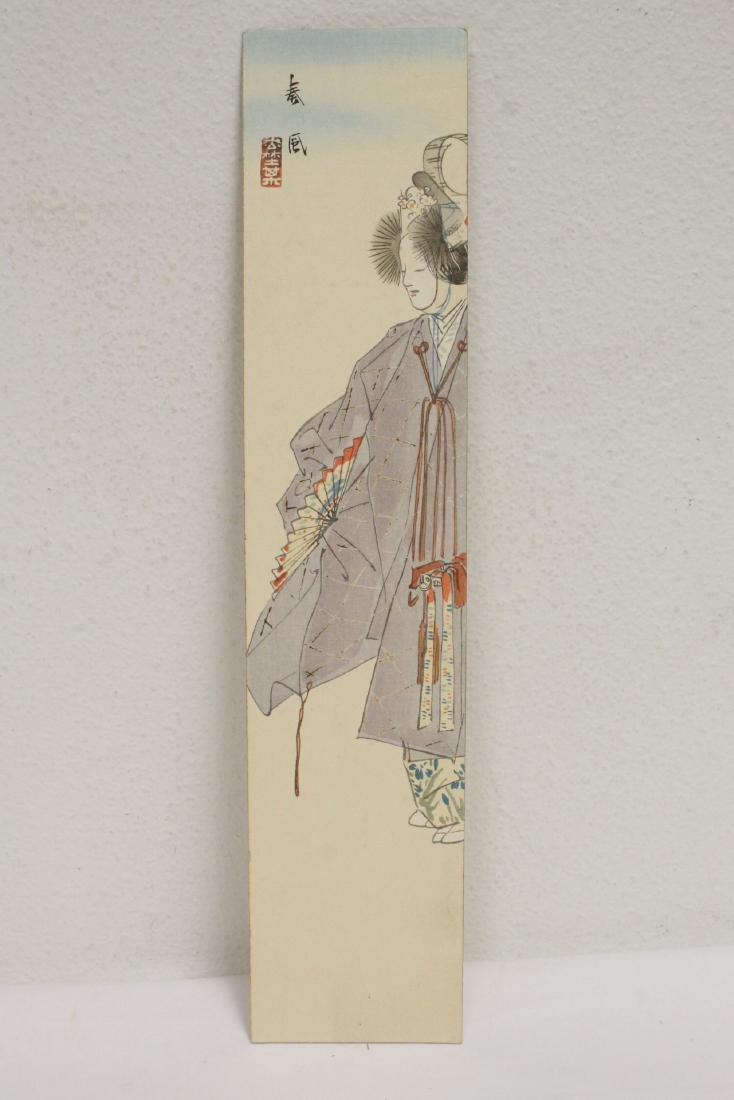 3 Japanese woodblock panels(?) - 2
