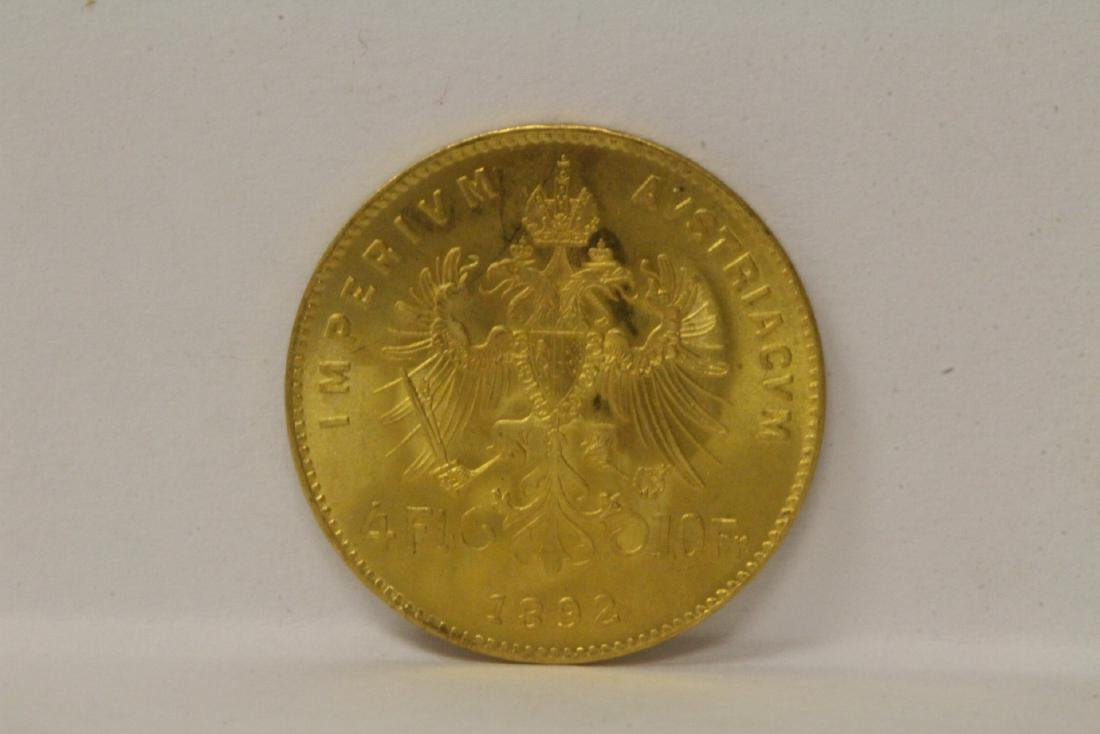 2 French dated 1892 gold coins, total wt. 6.4gm - 9