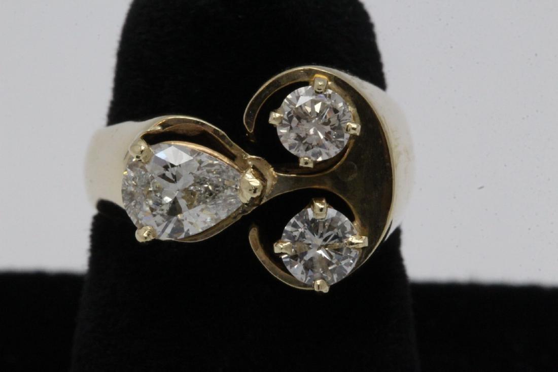 14K Y/G diamond ring