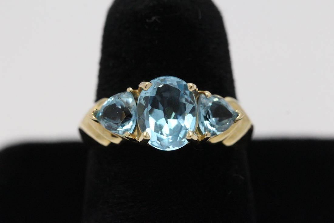 14K Y/G topaz ring