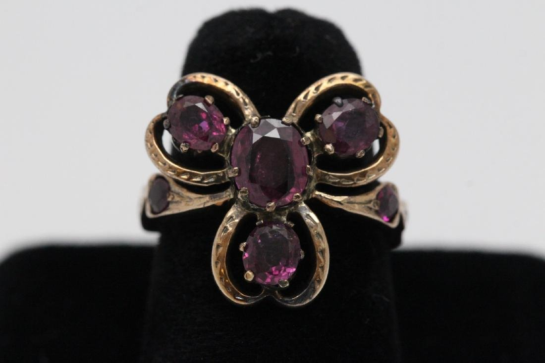 beautiful Victorian 12-14K rose gold ruby ring