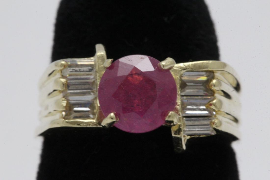 14K Y/G ruby ring