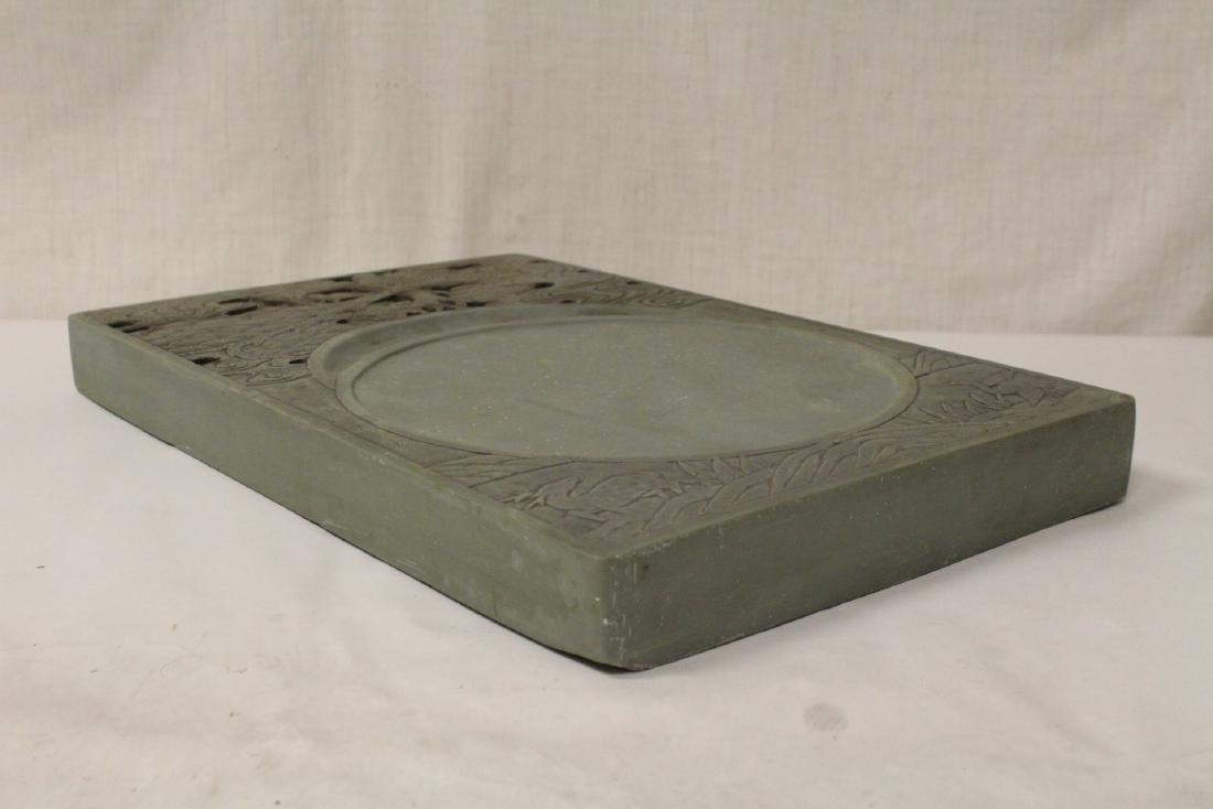A massive Chinese stone carved inkwell - 10