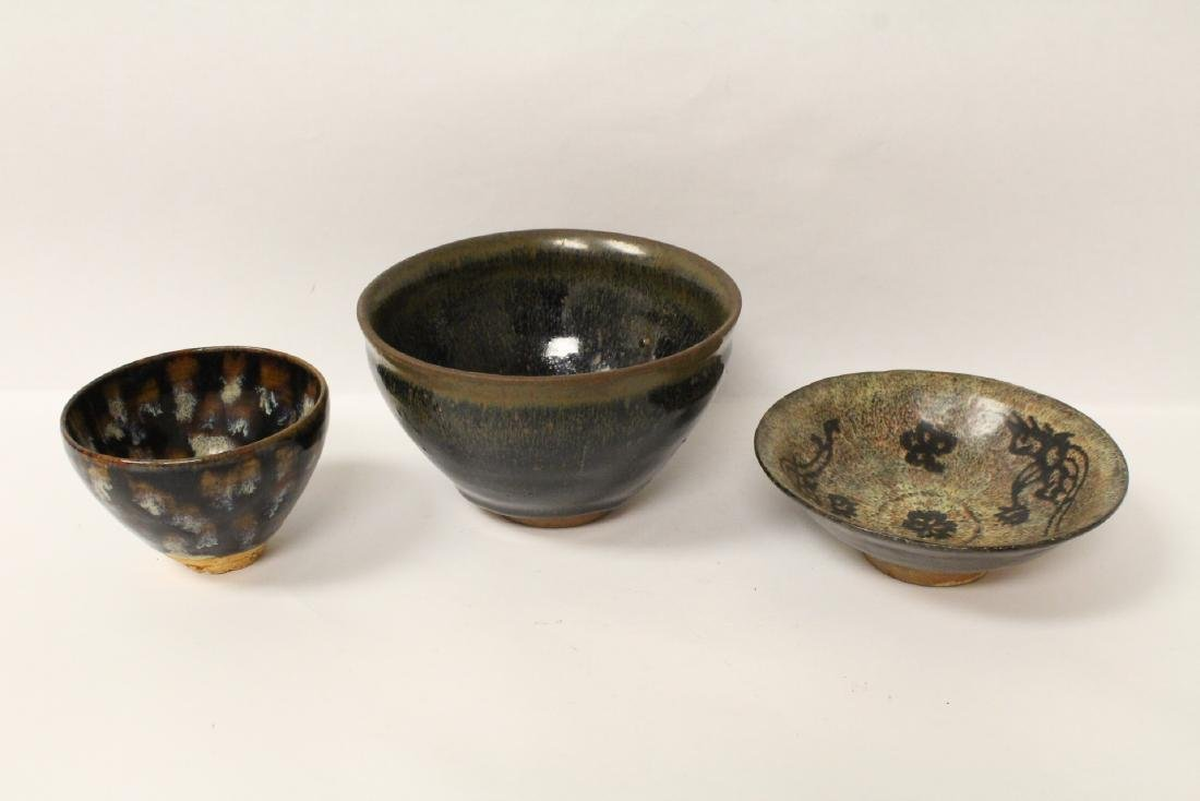 3 Song style brown glazed bowls