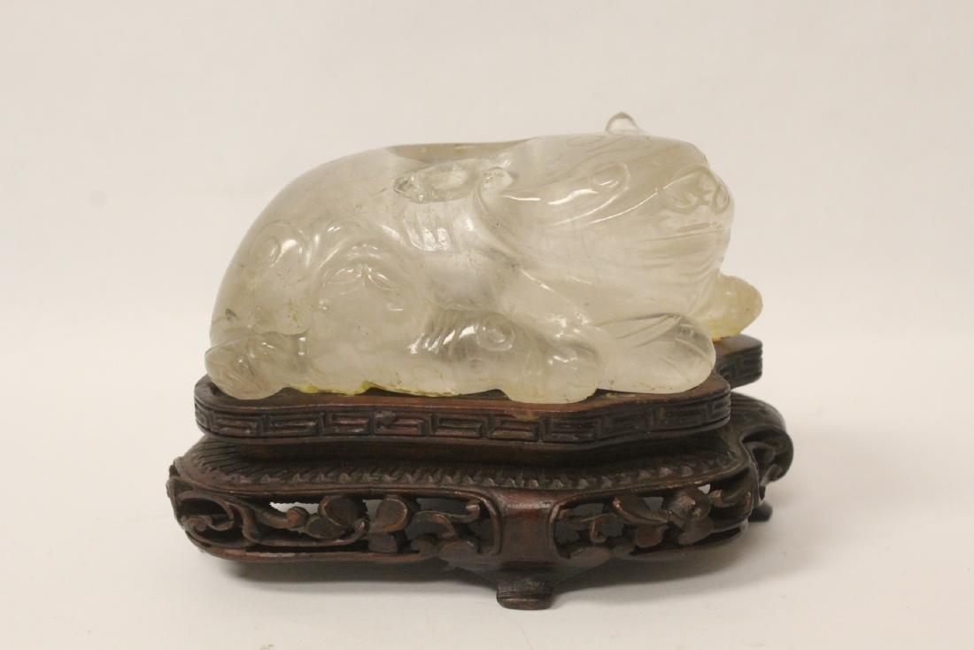 Rare Chinese antique crystal brush wash