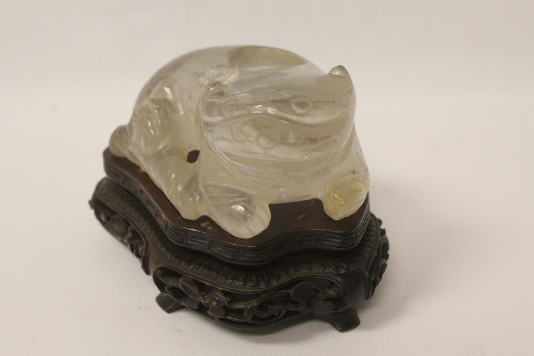 Rare Chinese antique crystal brush wash - 3