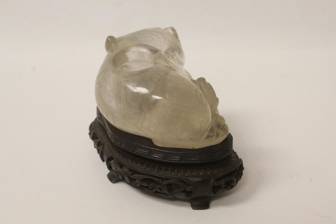 Rare Chinese antique crystal brush wash - 7