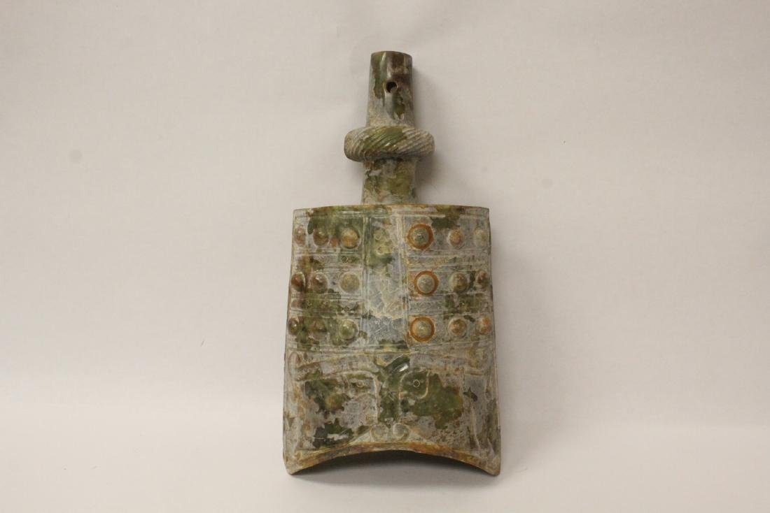 Chinese vintage celadon jade carving