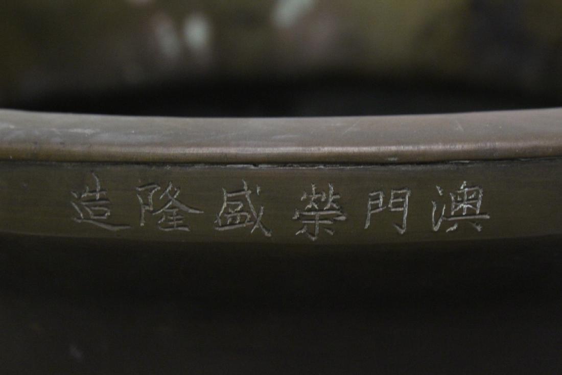 massive Chinese antique bronze temple censer - 3