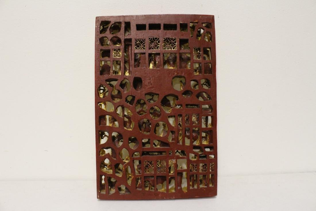 A beautiful Chinese antique gilt wood carving - 10