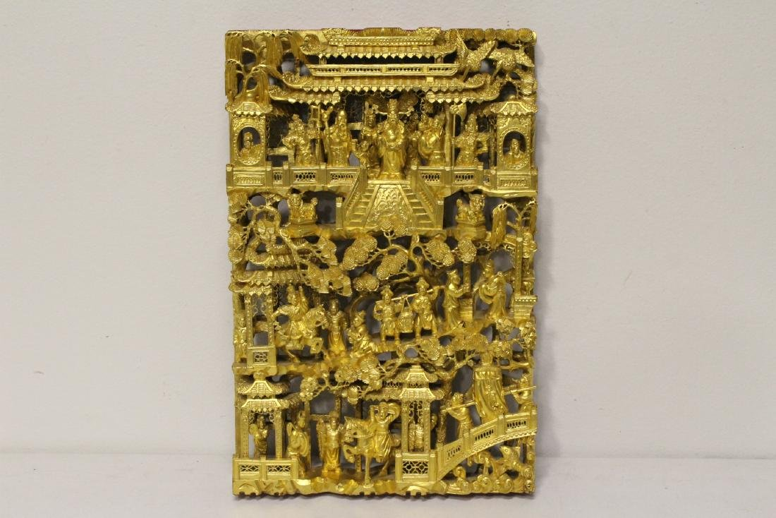A beautiful Chinese antique gilt wood carving