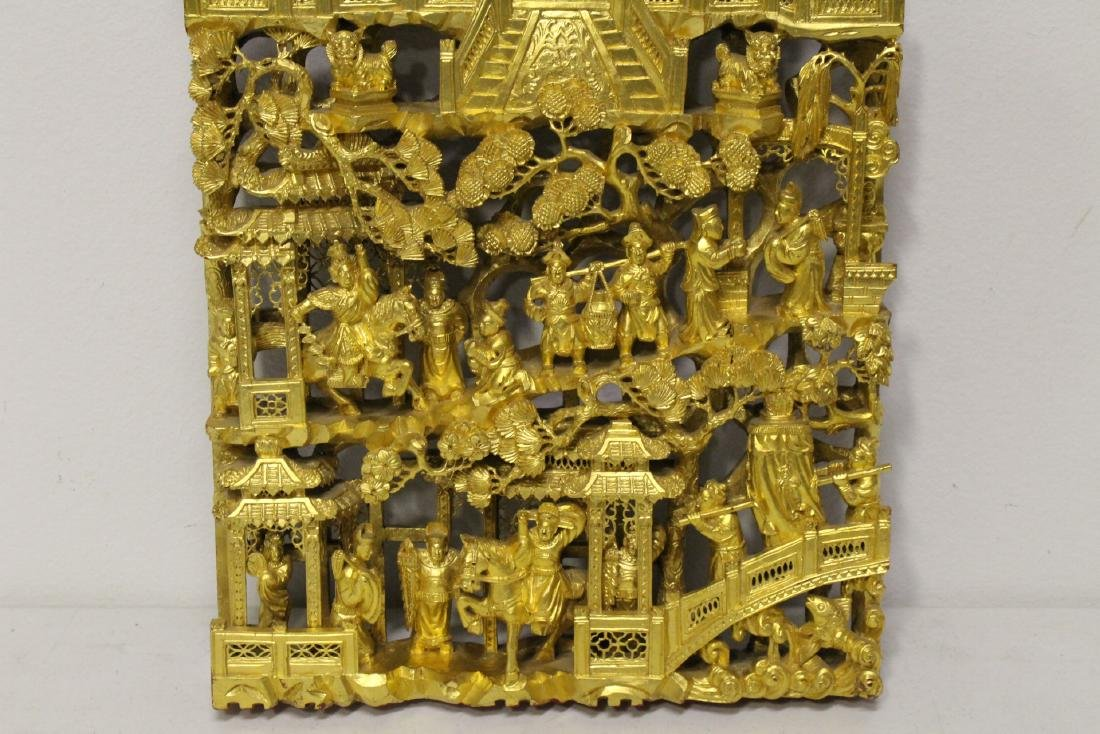 A beautiful Chinese antique gilt wood carving - 2