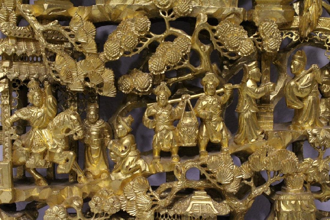 A beautiful Chinese antique gilt wood carving - 5