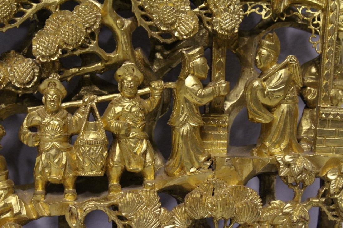 A beautiful Chinese antique gilt wood carving - 6
