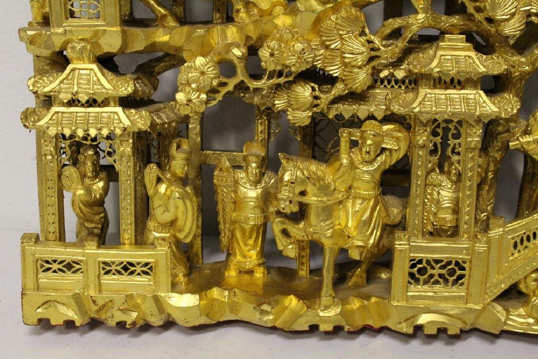 A beautiful Chinese antique gilt wood carving - 8