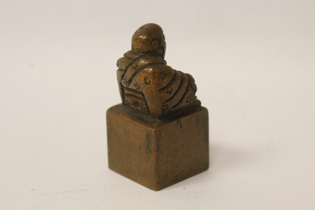 Antique Chinese bronze seal - 3