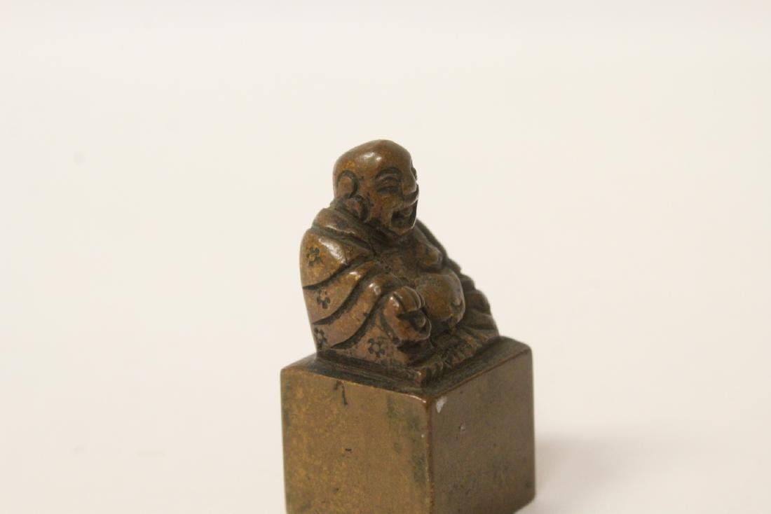 Antique Chinese bronze seal - 8