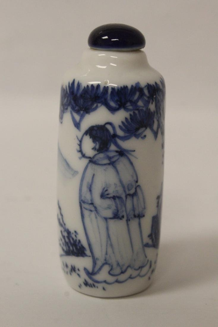 2 Chinese vintage porcelain snuff bottles - 7