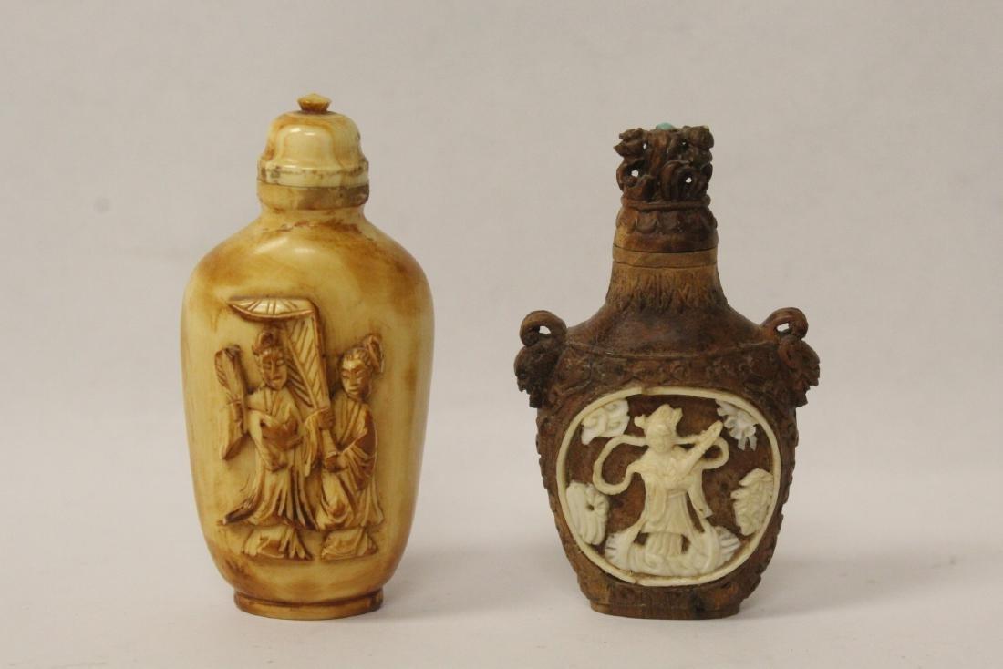 2 vintage snuff bottles