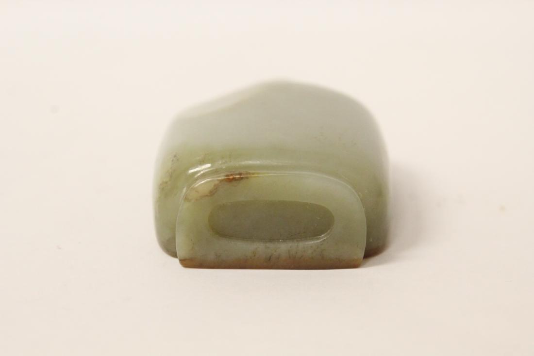 Chinese antique hetian jade snuff bottle - 7