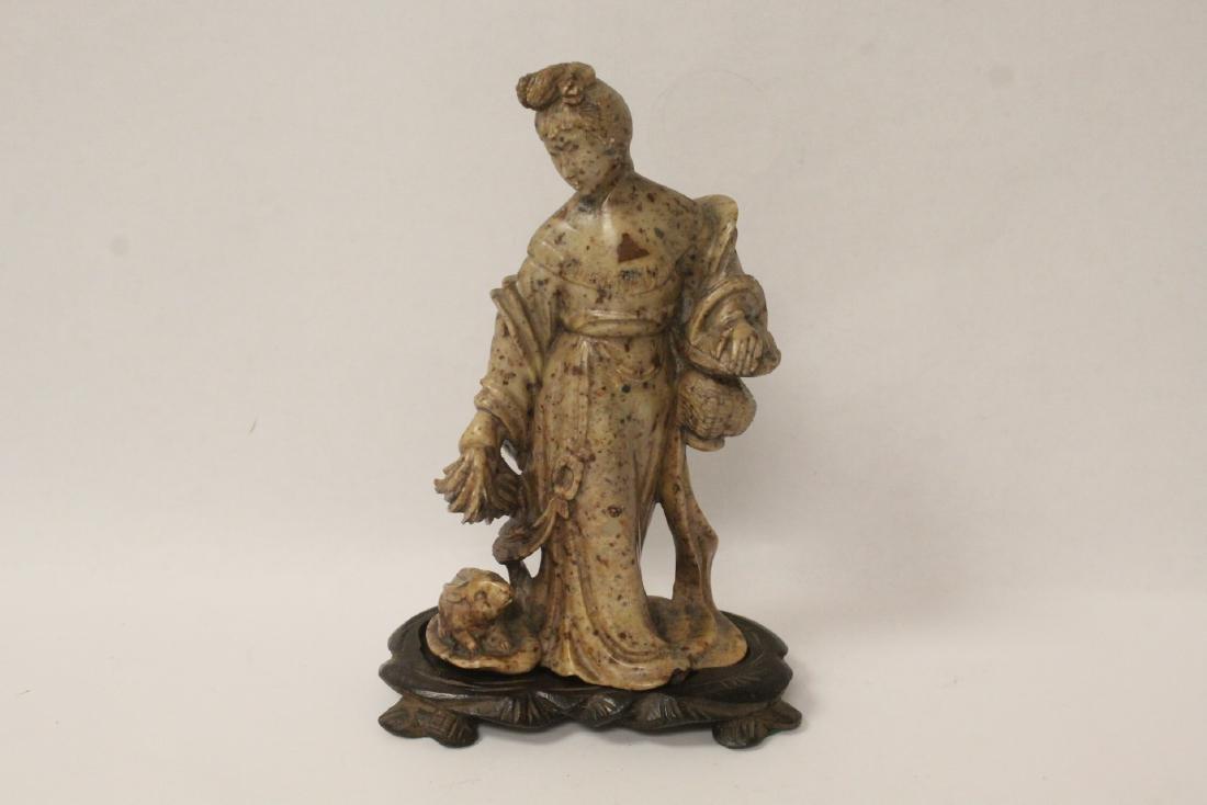 Chinese antique shoushan stone carving w/ original