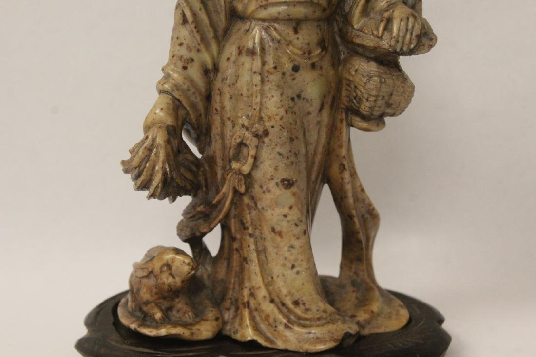 Chinese antique shoushan stone carving w/ original - 3