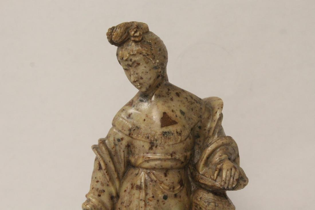 Chinese antique shoushan stone carving w/ original - 4