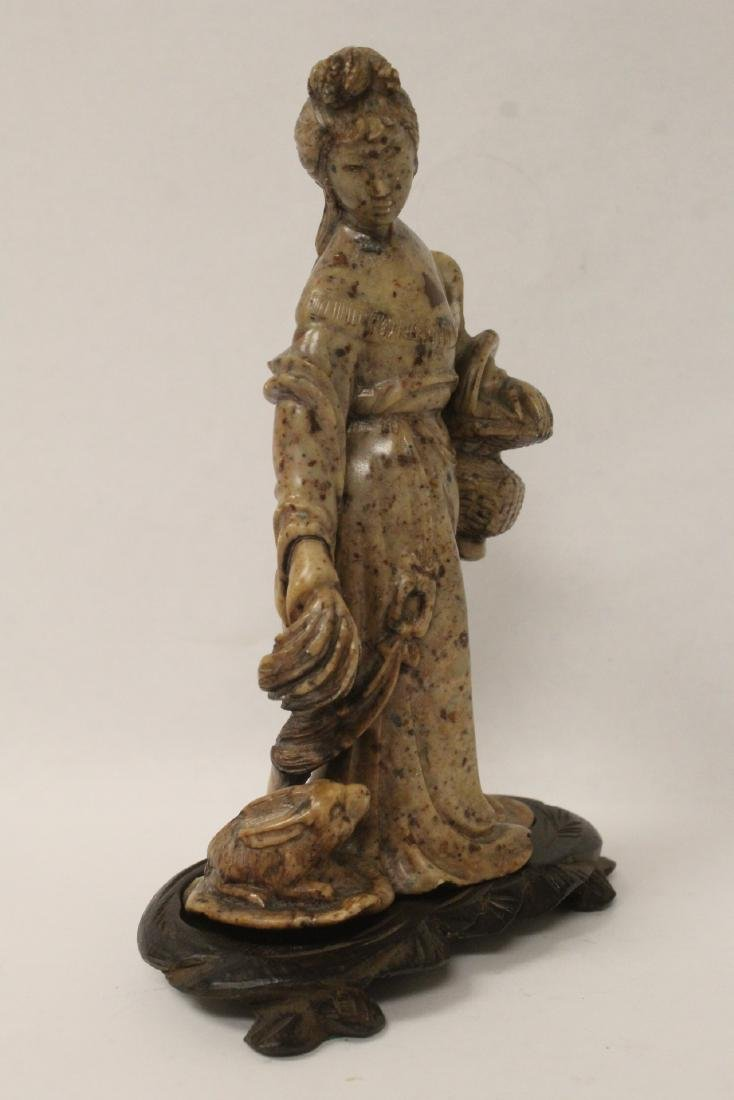 Chinese antique shoushan stone carving w/ original - 5