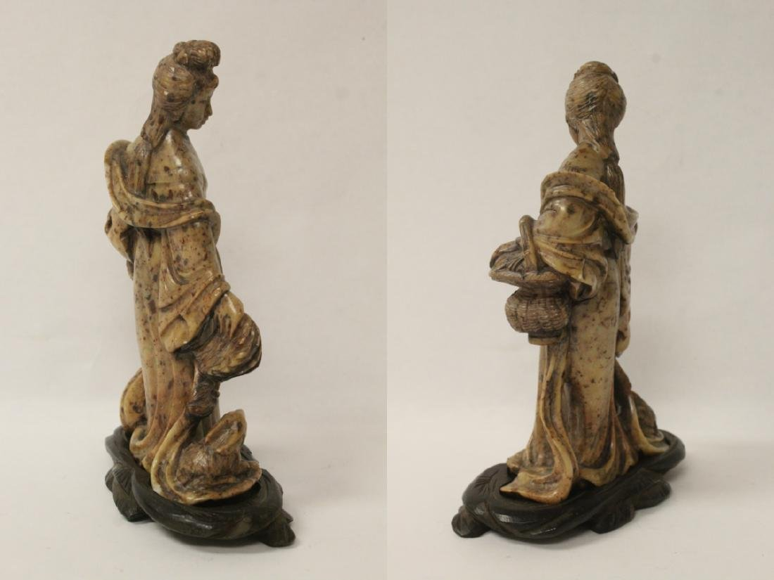 Chinese antique shoushan stone carving w/ original - 7