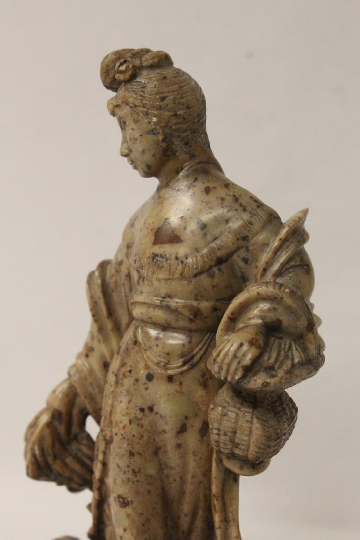 Chinese antique shoushan stone carving w/ original - 9