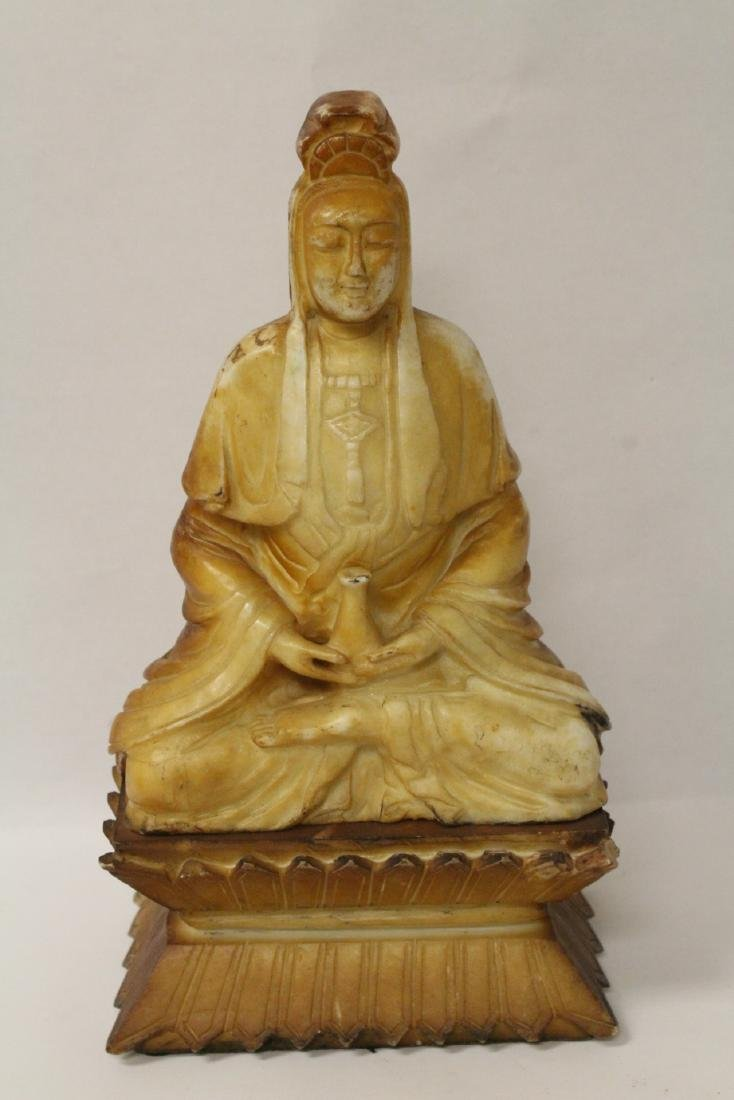 A rare Chinese lg antique shoushan stone carving