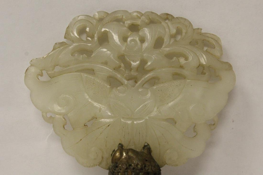 Antique Chinese hetian jade carving made as lamp finial - 3