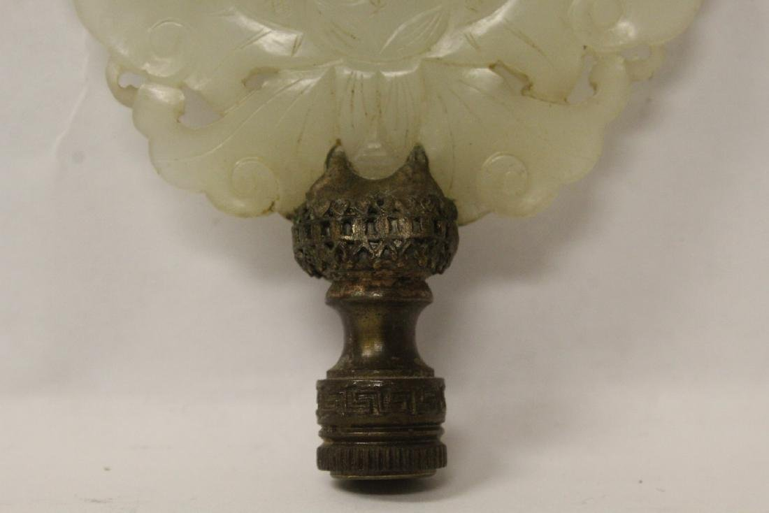 Antique Chinese hetian jade carving made as lamp finial - 5